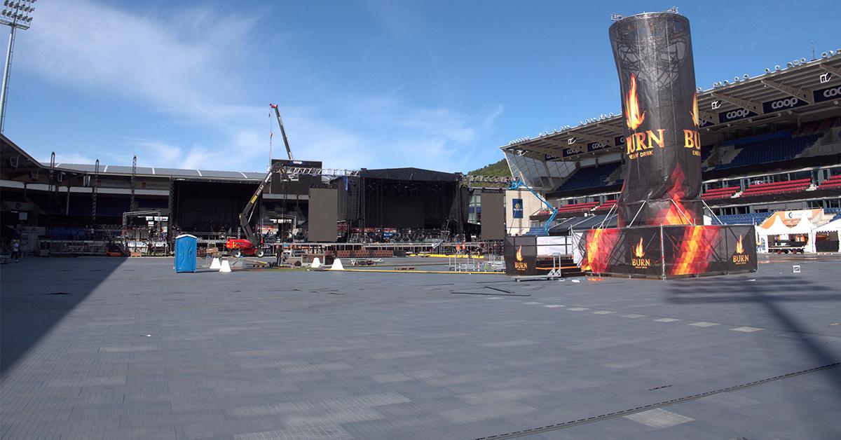 Dansegulvet på Jugendfest er straks klart - Color Line Stadion